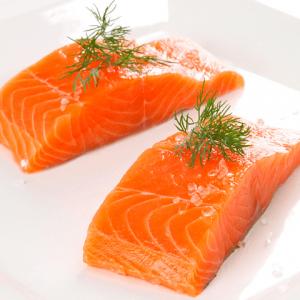 salmón porcionado sin piel